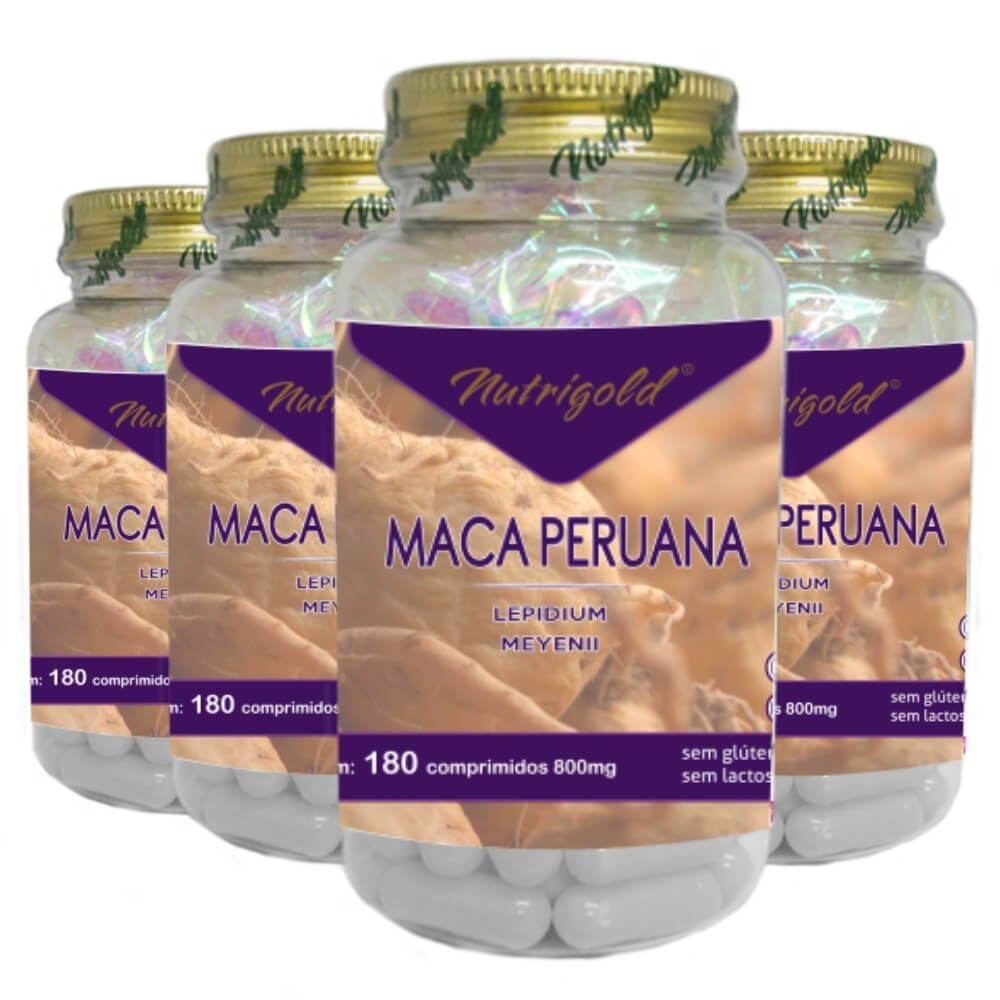 Kit 4 Maca Peruana 180 Comprimidos 800mg