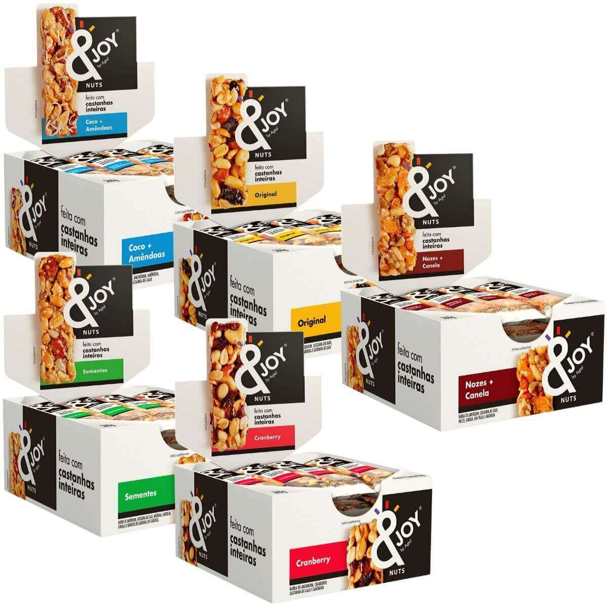 Kit 5 Display Barras 30g Mixed Nuts Cereais - Escolha Seu Sabor