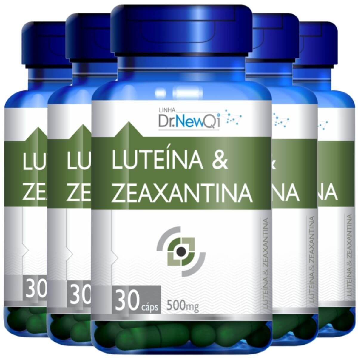 Kit 5 Luteína E Zeaxantina 30 Cápsulas 500mg - Dr. NewQi