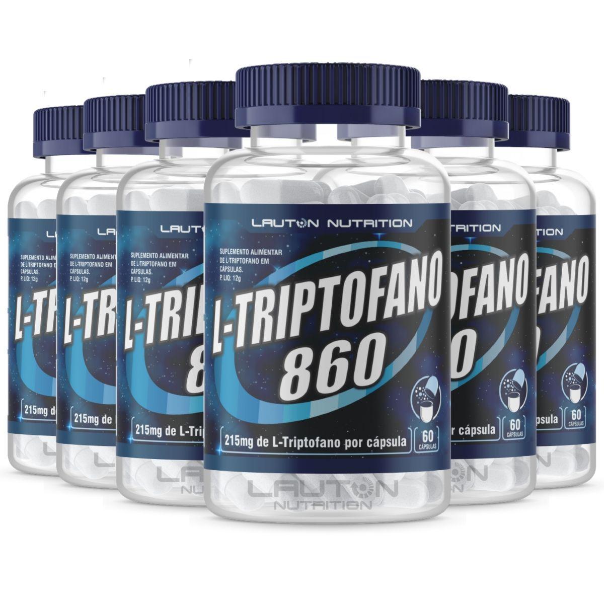 Kit 6 L-triptofano 60 cápsulas - Lauton Nutrition