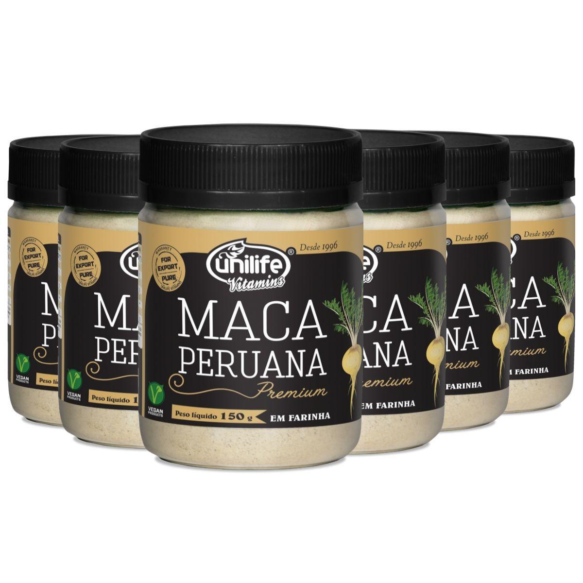 Kit 6 Maca Peruana Premium Em Pó 150g - Unilife