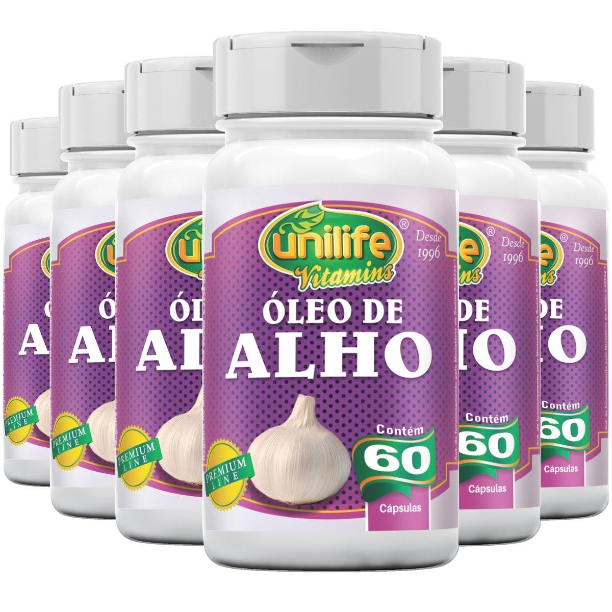 Kit 6 Óleo de Alho 60 Cápsulas 350 mg - Unilife