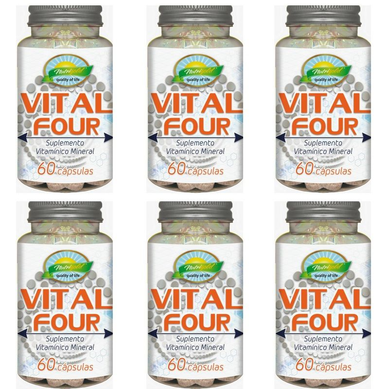Kit 6 Vital Four - Pote 60 Cápsulas 650mg