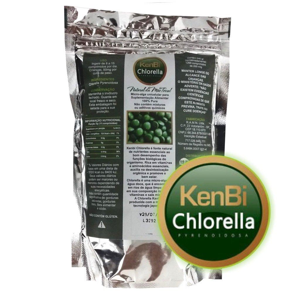 Kit Chlorella Kenbi 1200 Comprimidos + Spirulina Ocean Drop 240 Cápsulas