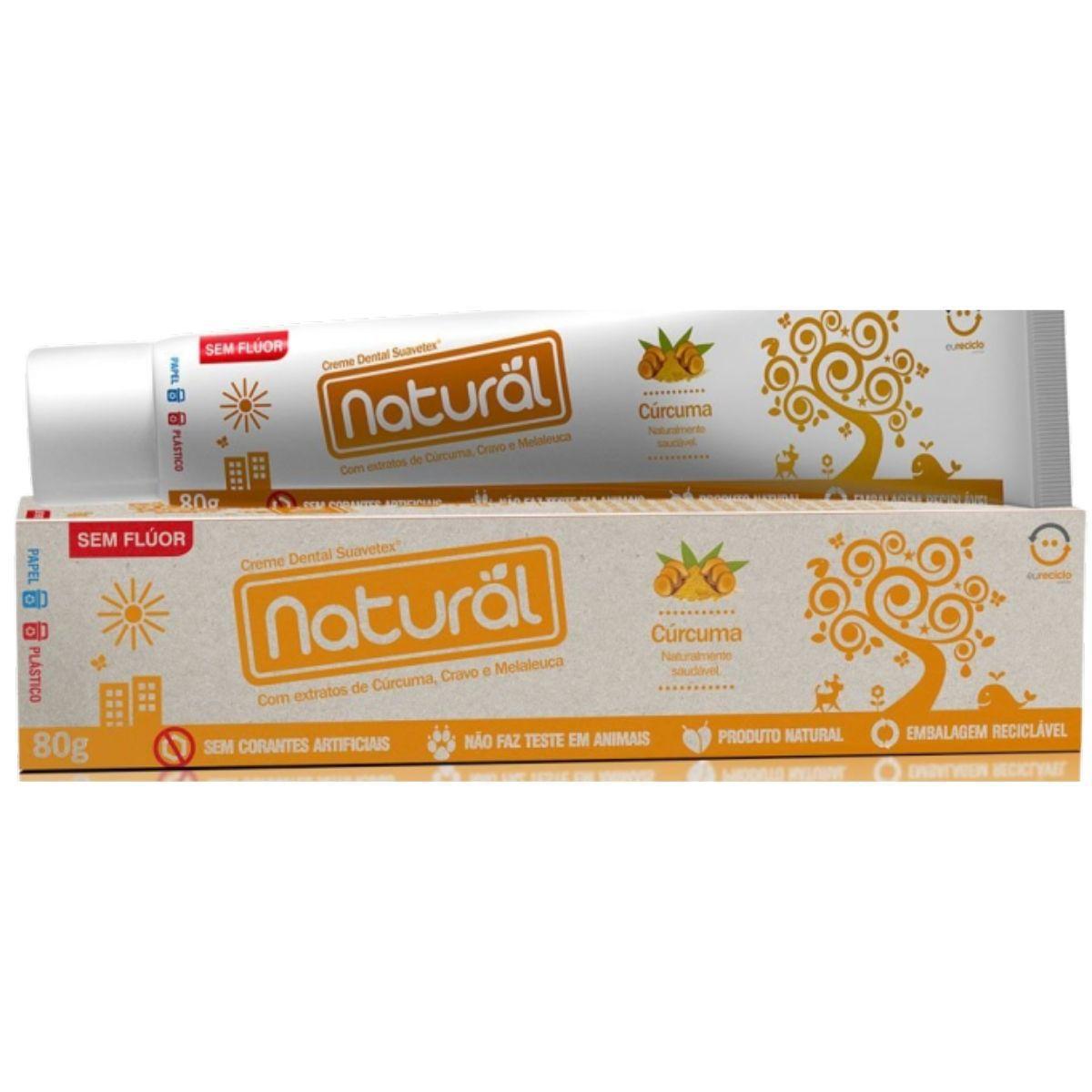 Kit Creme Dental Cúrcuma 80g + Escova Dental Carvão Vegetal + Enxaguante Bucal Cúrcuma 250ml + Sabonete de Cúrcuma 80gr - Orgânico Natural Boni