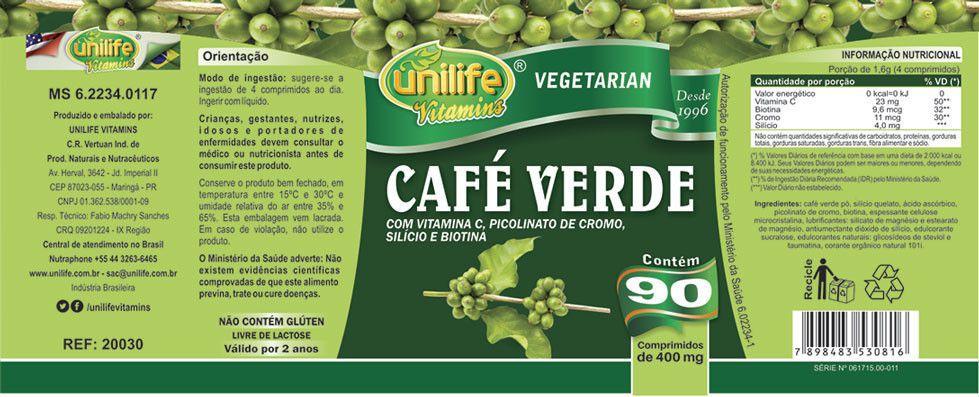 Kit Seca Barriga Termogênico Unilife - Gengibre / Café Verde / Goji Fit Pro / Hibisco - 570 Cp