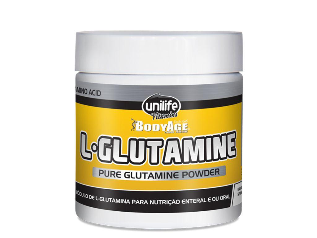 L-Glutamina em Pó 100% Pura - 300g Unilife