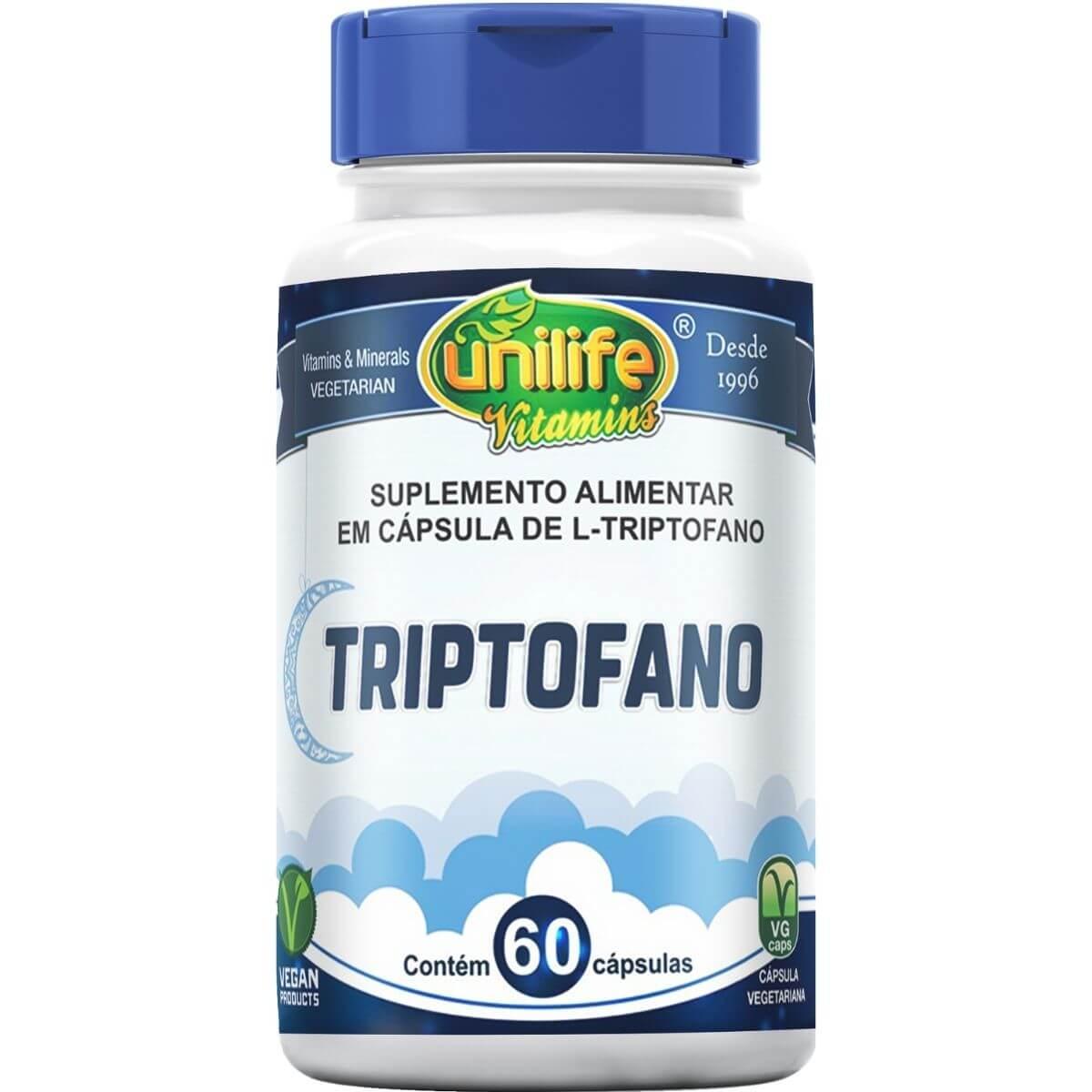 L-Triptofano 300mg 60 Cápsulas - Unilife