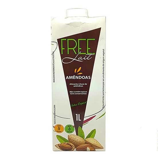 Leite de Amêndoas 1L Sem Lactose - Free Lait