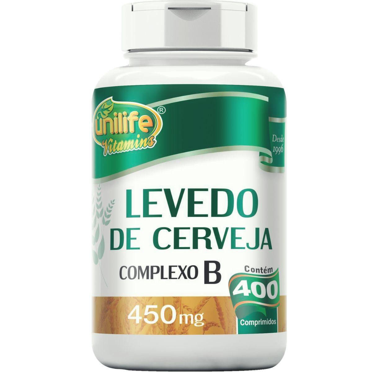 Levedo de Cerveja 400 Comprimidos 450mg - Unilife