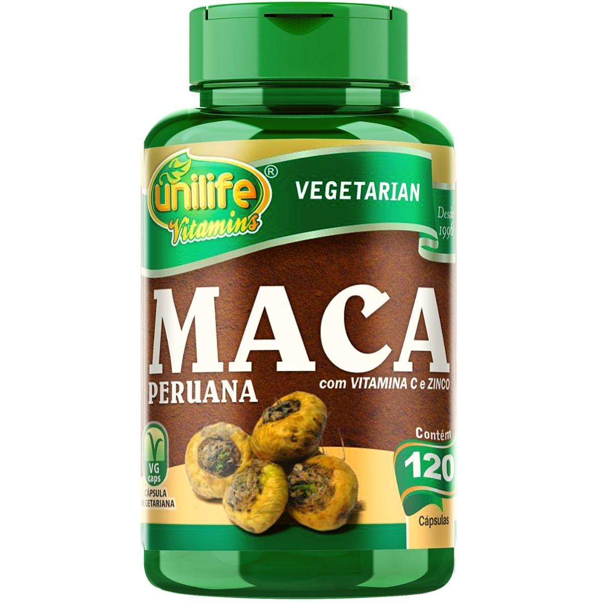 Maca Peruana Com Vitaminas 120 Cápsulas 500mg - Muwiz