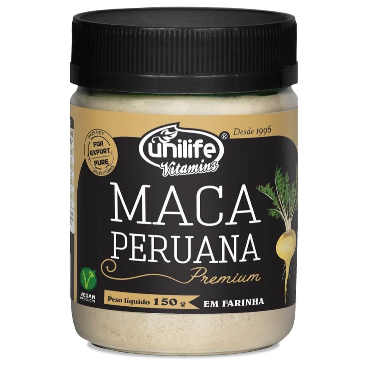 Maca Peruana Premium Em Pó 150g - Unilife