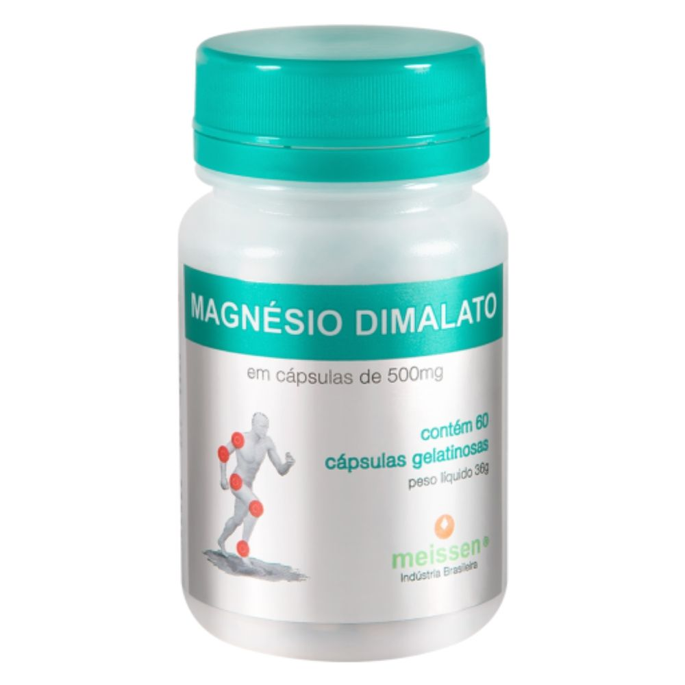 Magnésio Dimalato Puro  60 Cápsulas Gelatina Meissen