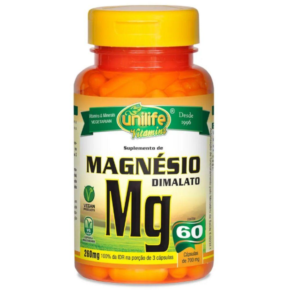 Magnésio Dimalato 60 Cápsulas 700mg - Unilife