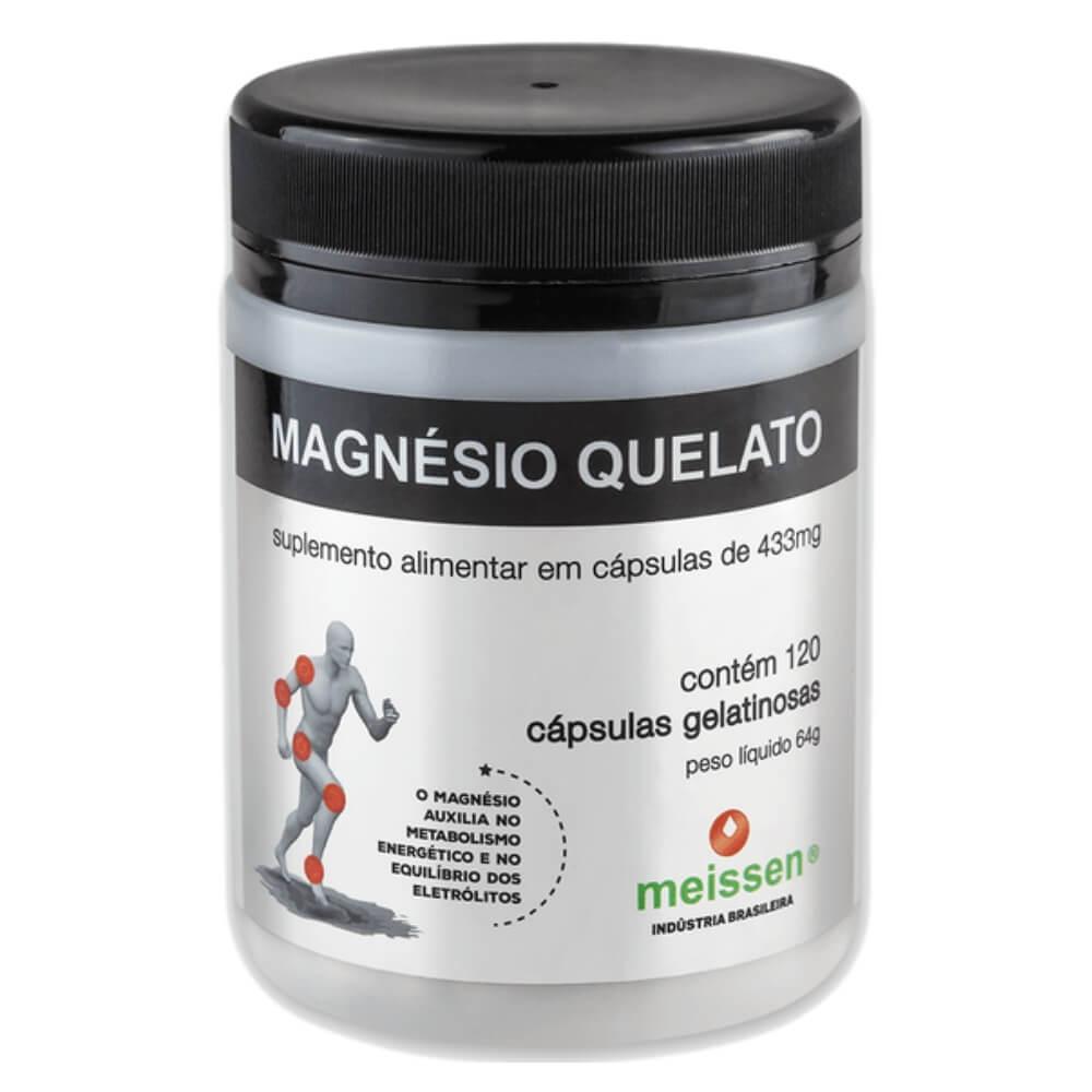 Magnésio Quelato 120 Cápsulas 433mg - Meissen