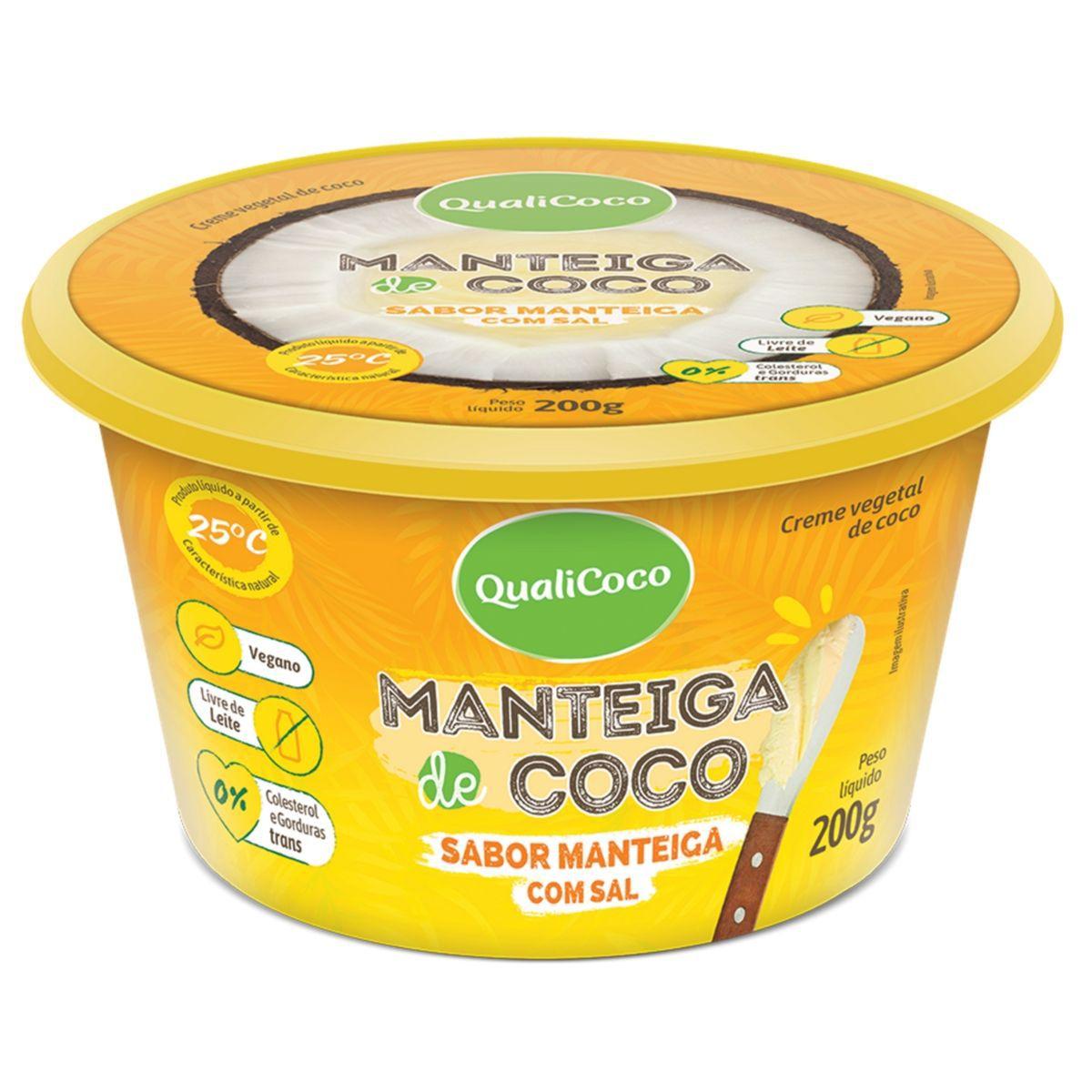 Manteiga De Coco C/ Sal Sabor Manteiga 200g - QualiCôco