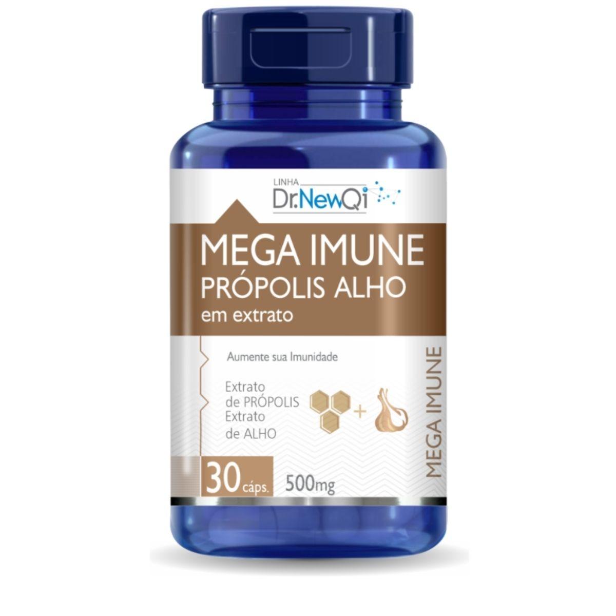 Mega Imune Extrato de Própolis e Alho 30 Cápsulas 500mg - Upnutri