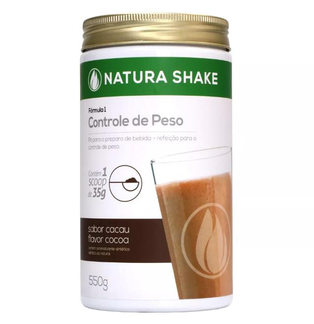 Natura Shake Sabor Cacau 550g - Ideal Para Dieta