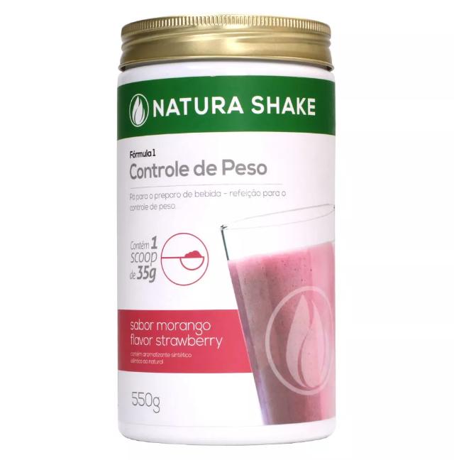 Natura Shake Sabor Morango 550g - Ideal Para Dieta