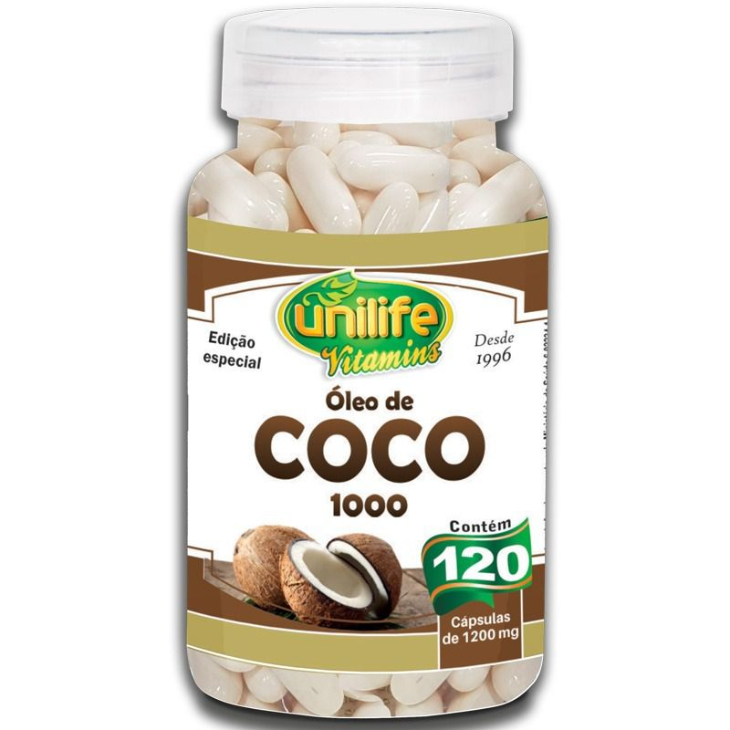 Óleo de Coco 120 Cápsulas 1200mg - Unilife