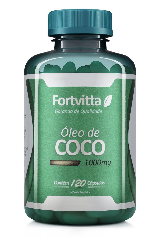 Óleo de Côco 120 Cápsulas 1000mg Fortvitta
