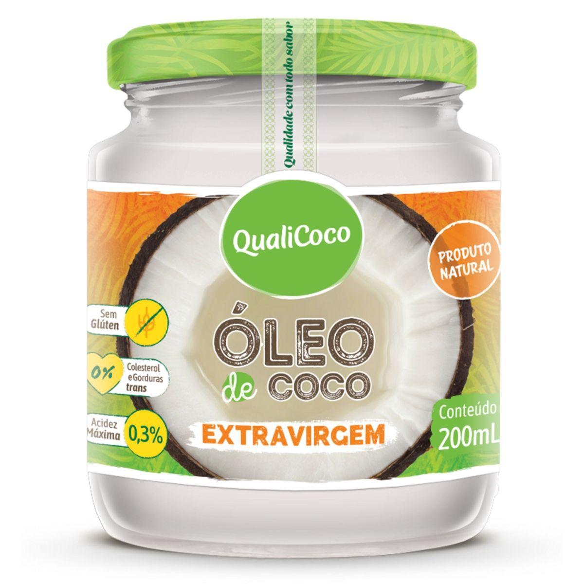 Óleo De Coco Extra Virgem  Prensado A Frio 100% Natural 200ml - QualiCôco