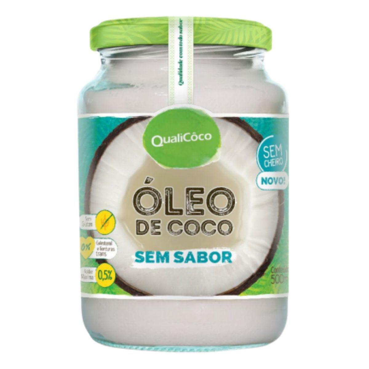 Óleo De Coco Sem Sabor E Sem Cheiro Prensado A Frio 500ml - QualiCôco
