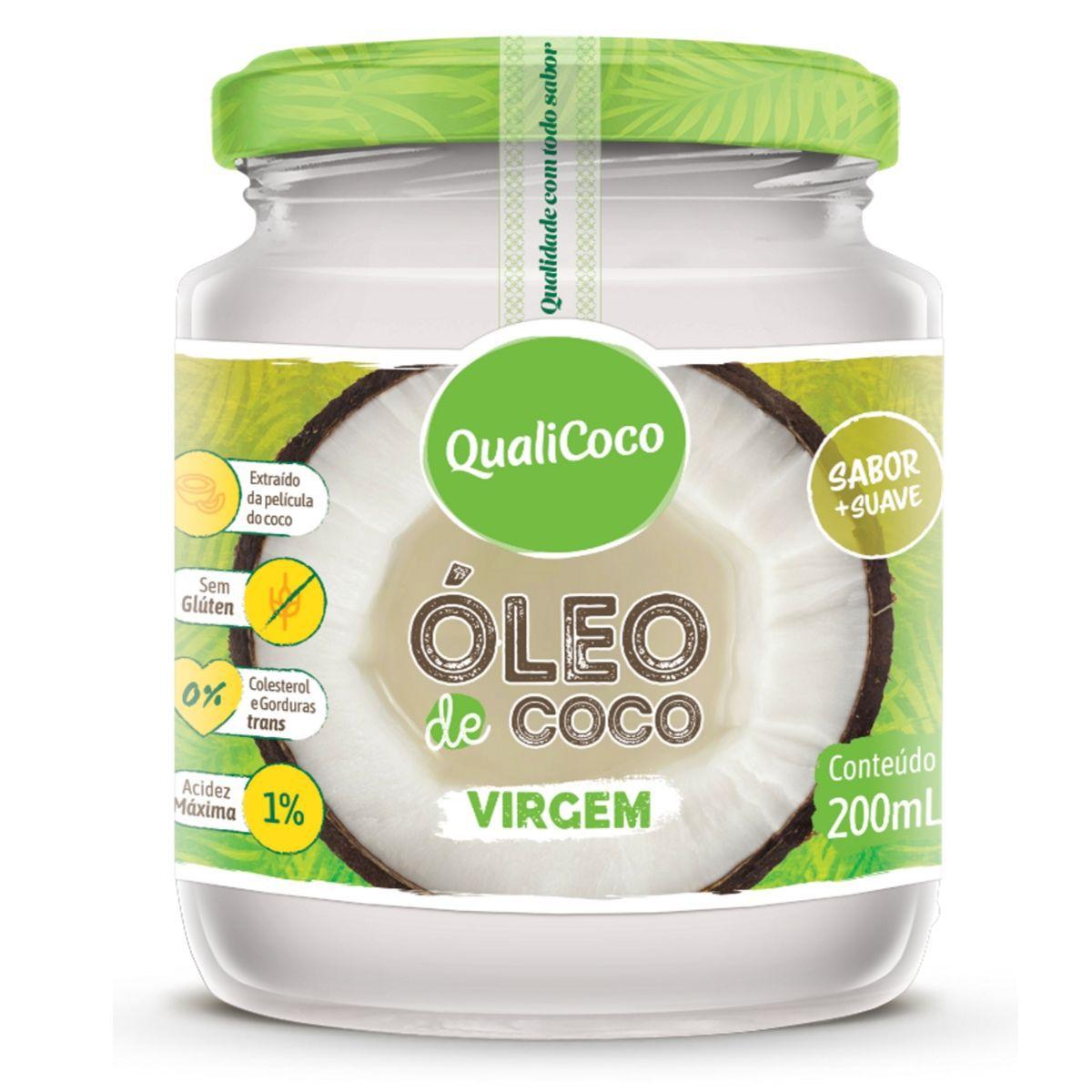 Óleo De Coco Virgem Prensado A Frio Sem Glúten 200ml - QualiCôco