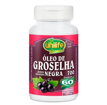 Óleo De Groselha Negra 60 Cápsulas 700mg - Unilife