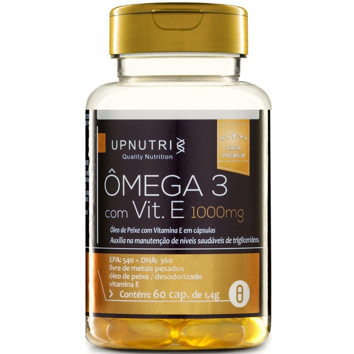 Ômega 3 + Vitamina E 60 Cápsulas 1000mg - Upnutri Premium