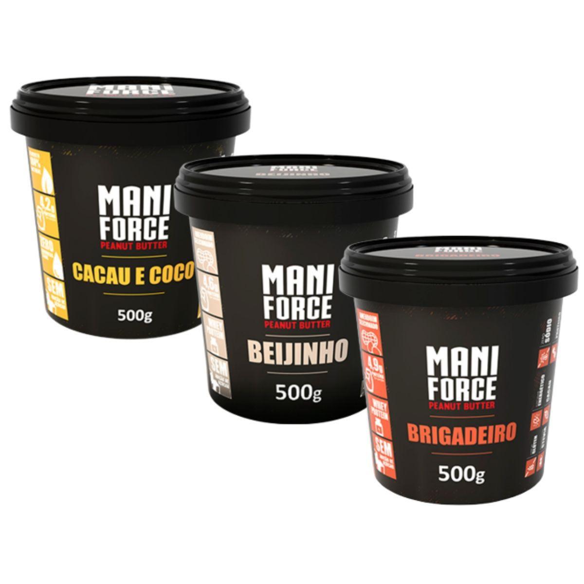 Pasta De Amendoim Maniforce 500g - Manibi