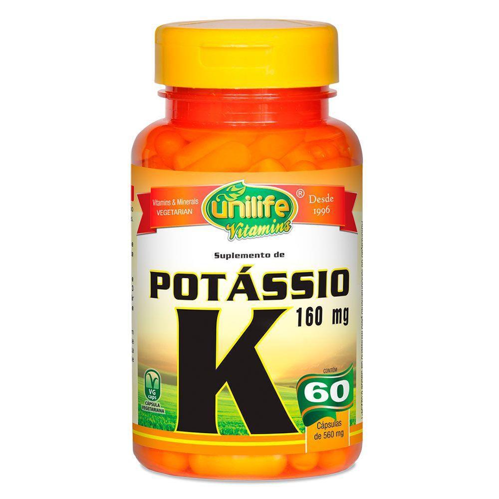 Potassio Quelato K 560mg 60 Cápsulas - Unilife