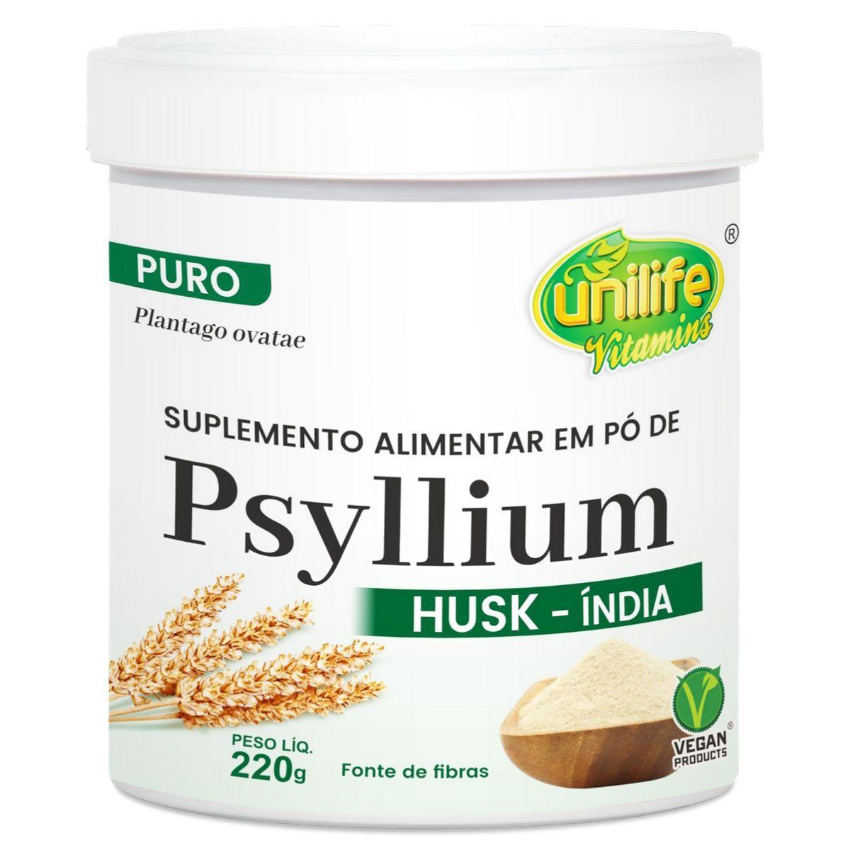 Psyllium Husk Em Pó 220g - Unilife