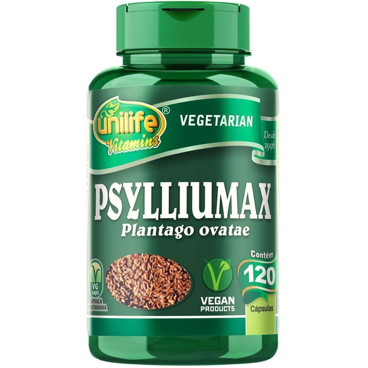 Psylliumax - Psyllium 550mg 120 Cápsulas - Unilife
