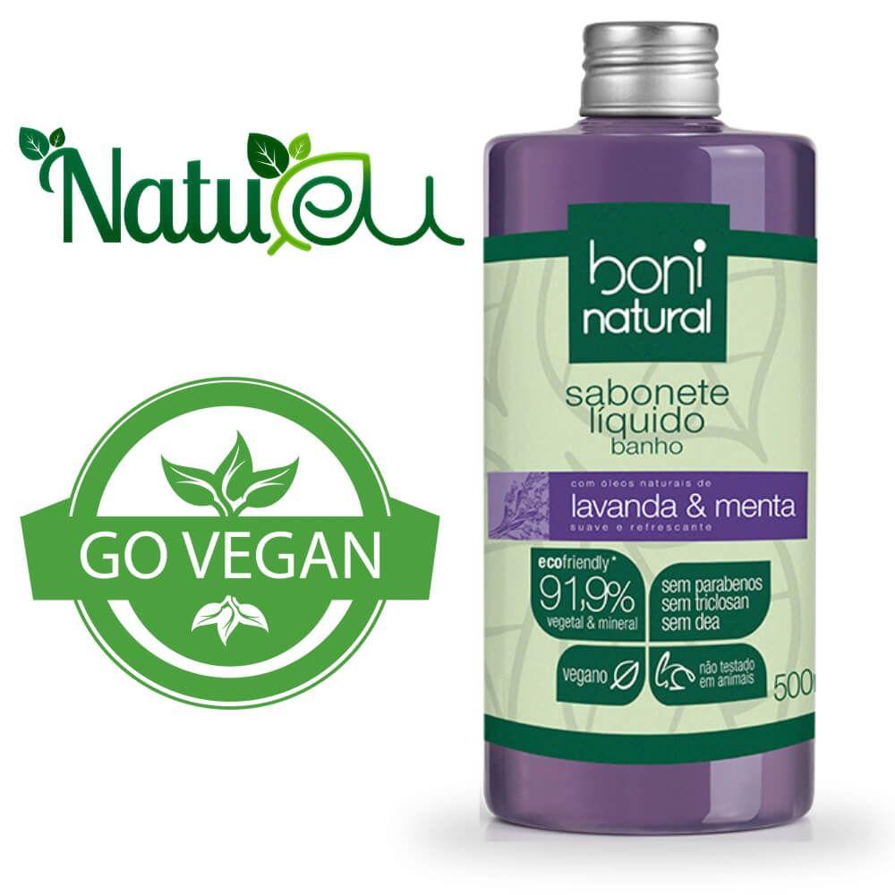 Sabonete Liquido Vegano - Lavanda e Menta 500ml Boni