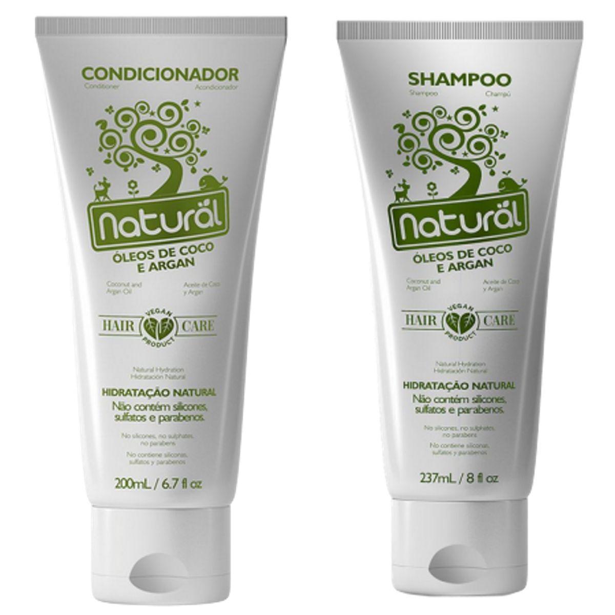 Shampoo E Condicionador Hidratação Natural C/ Óleo De Coco E Argan - Suavetex