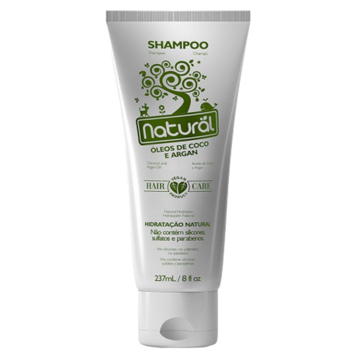 Shampoo Hidratação Natural C/ Óleo De Coco E Argan 237ml - Suavetex