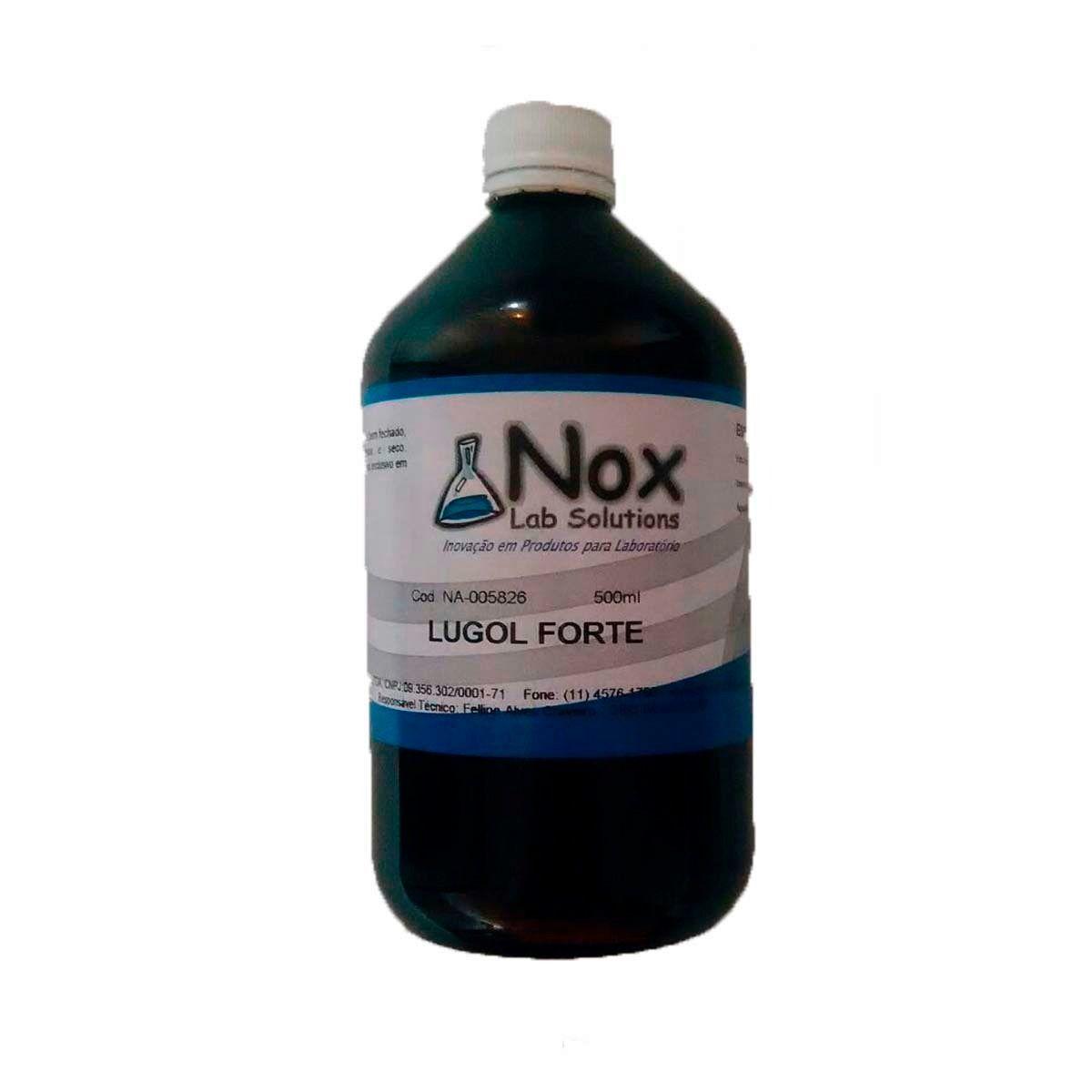 Solução Lugol 5% 500 Ml C/ Iodeto - Iodo Inorgânico