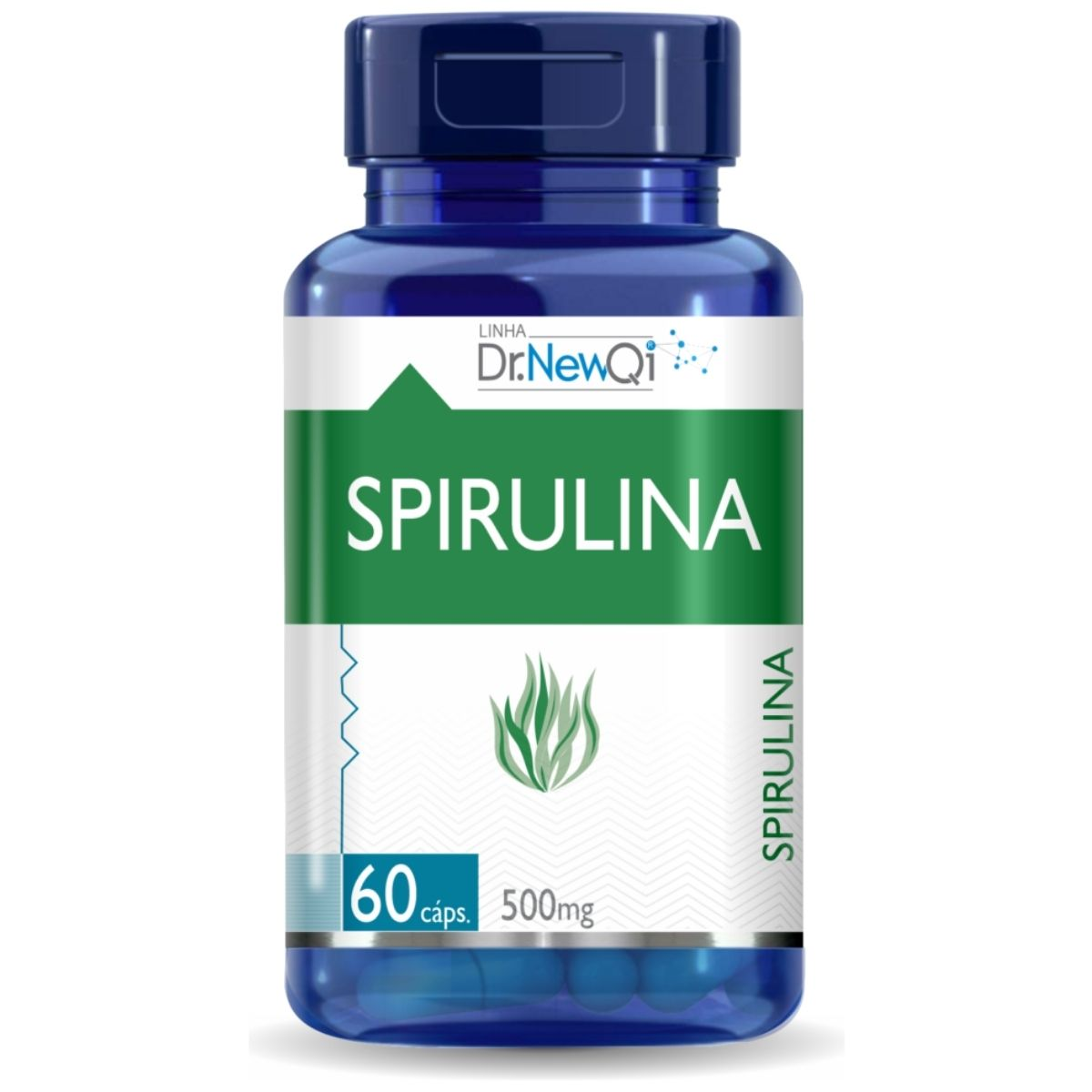 Spirulina Em Cápsulas 60 Cáps 500mg Dr. Lair/New QI - Upnutri