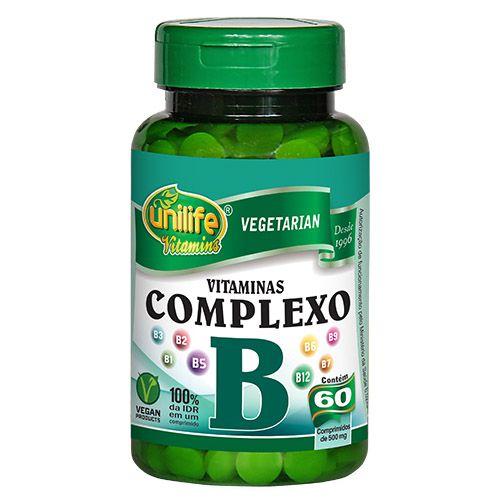 Vitaminas Complexo B 60 Comprimidos 500mg - Unilife