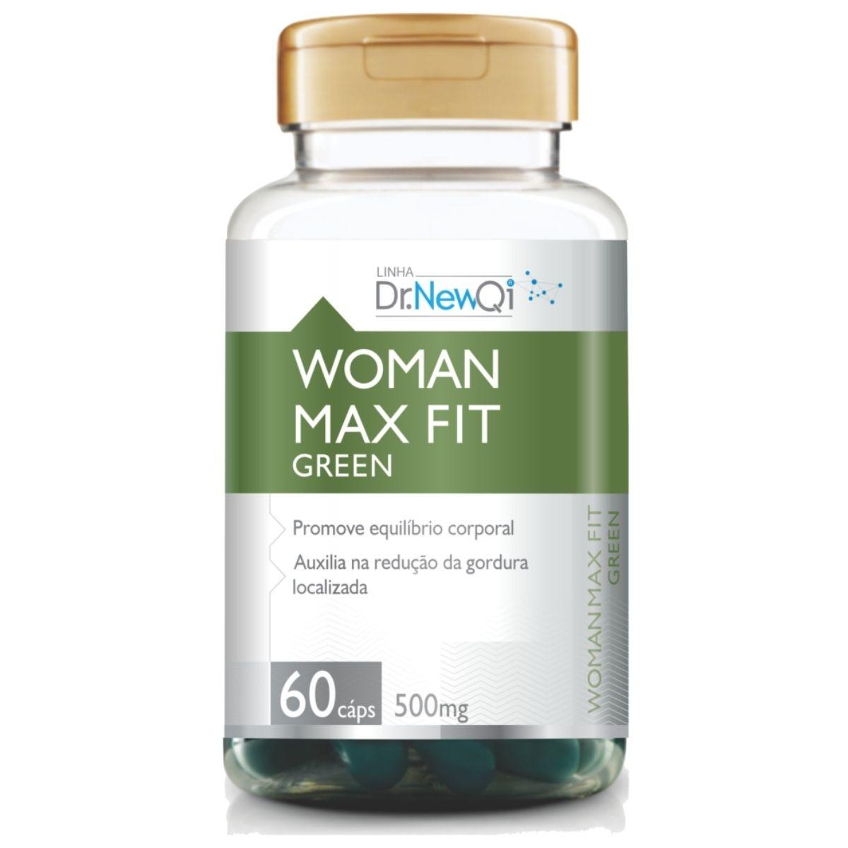 Woman Max Fit Green 60 Cápsulas 500mg Dr. New QI - UpNutri