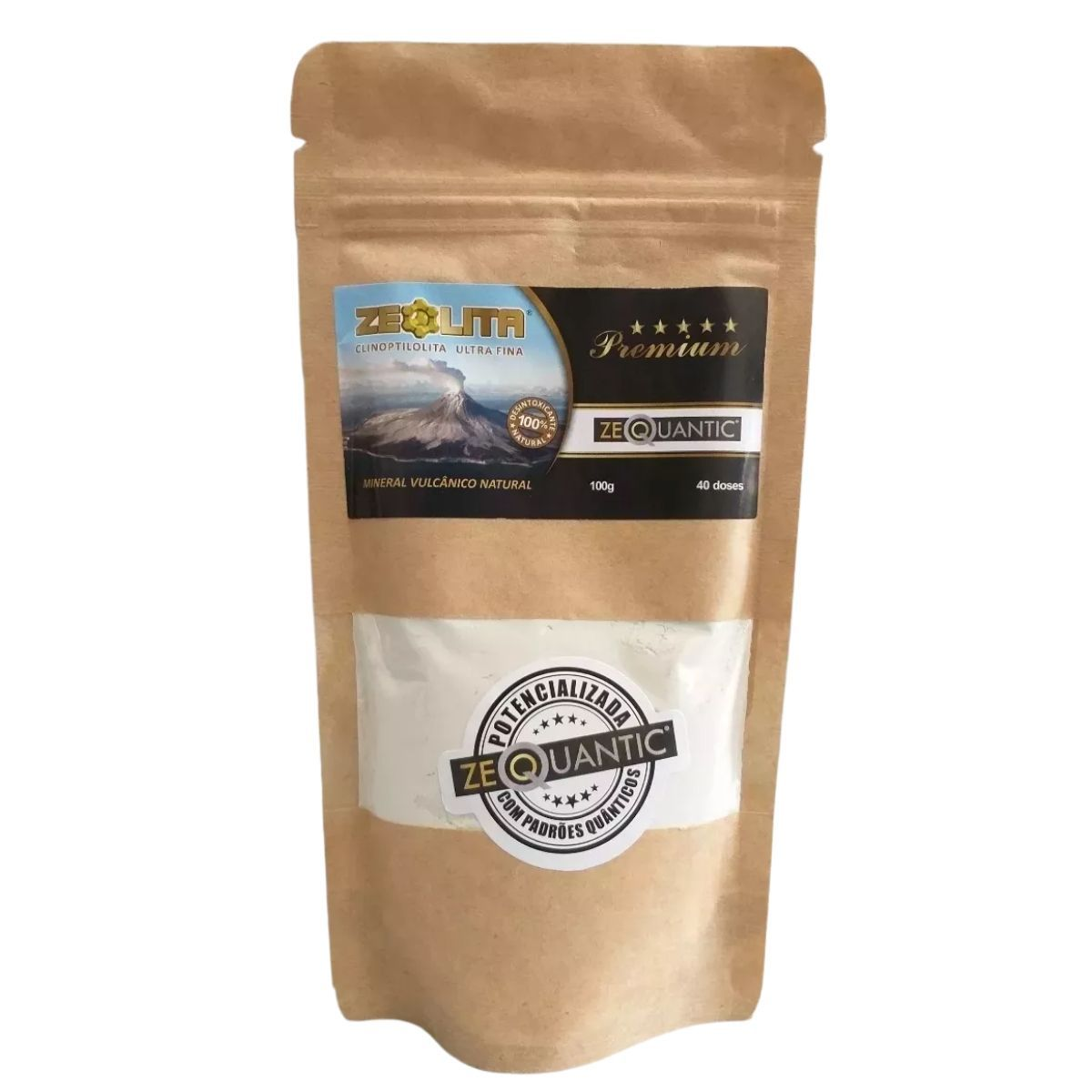 Zeólita Clinoptilolita Premium 100g Potencializada Zeoquantic