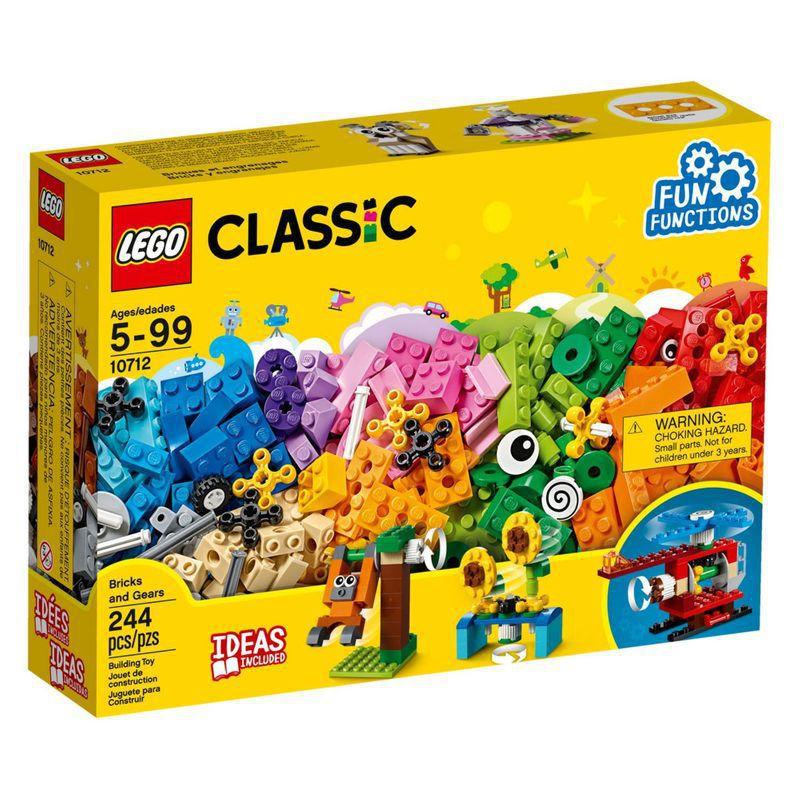 Lego Classic Peças e Engrenagens 244 Peças 10712 Lego