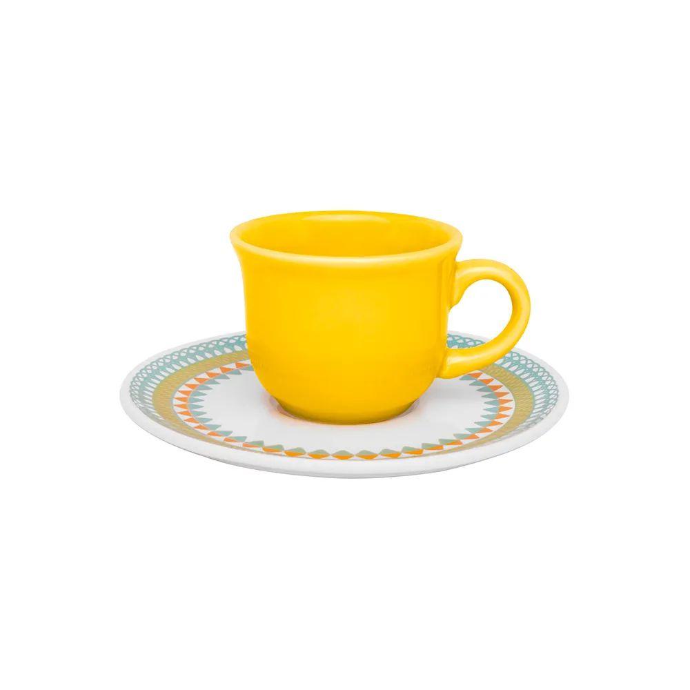 Aparelho De Jantar e Chá Floreal Bilro 20 Peças Oxford