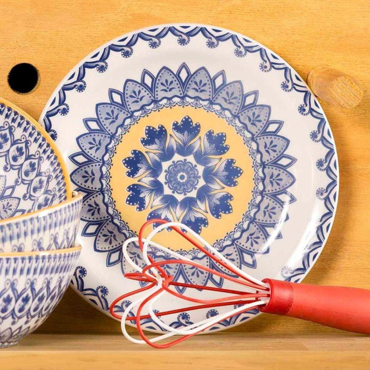 Aparelho De Jantar e Chá Floreal La Carreta 30 Peças Oxford