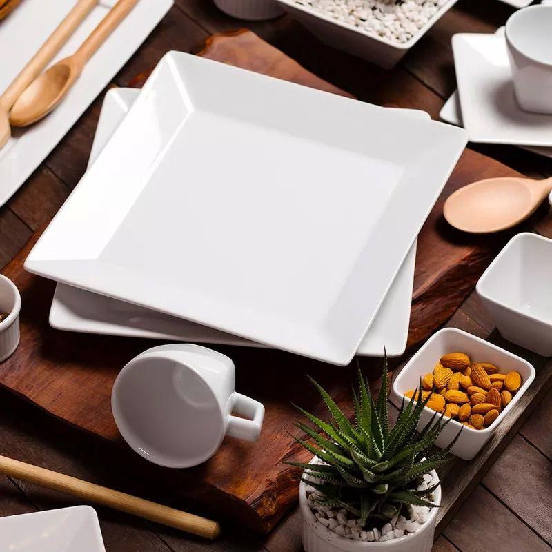 Aparelho De Jantar e Chá Quartier White 30 Peças Oxford