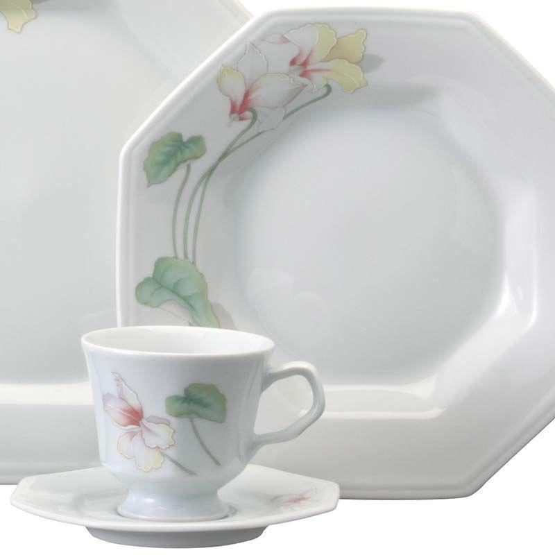 Aparelho De Jantar e Chá Encanto Floral 20 peças Schmidt