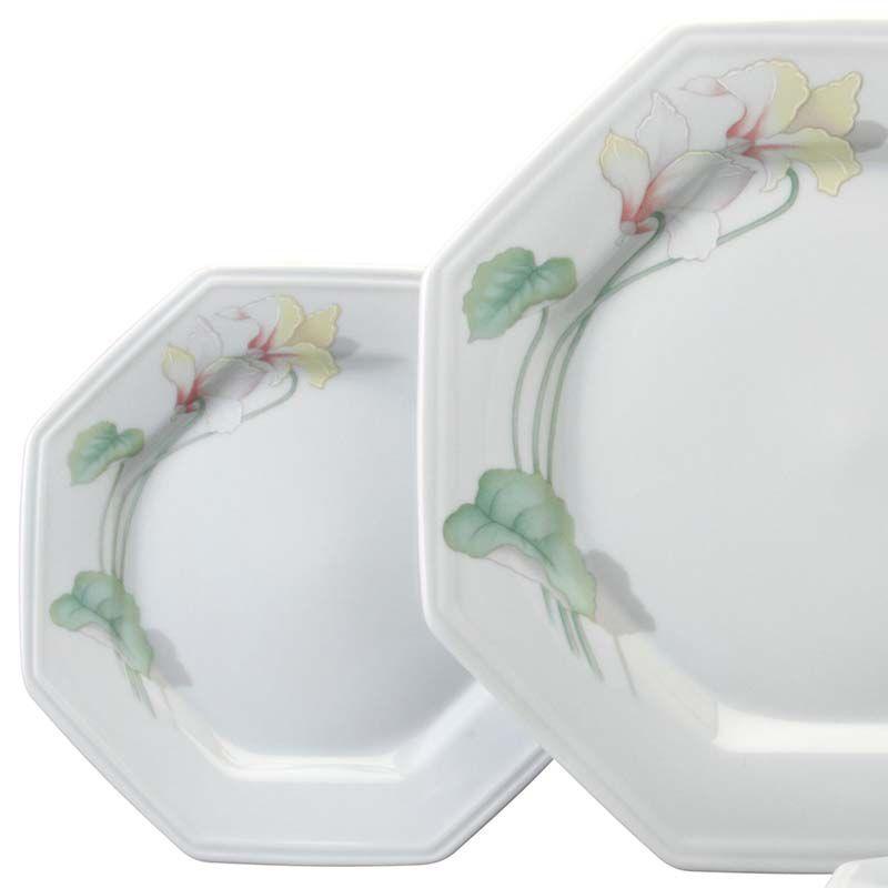 Aparelho De Jantar e Chá Encanto Floral 30 peças Schmidt