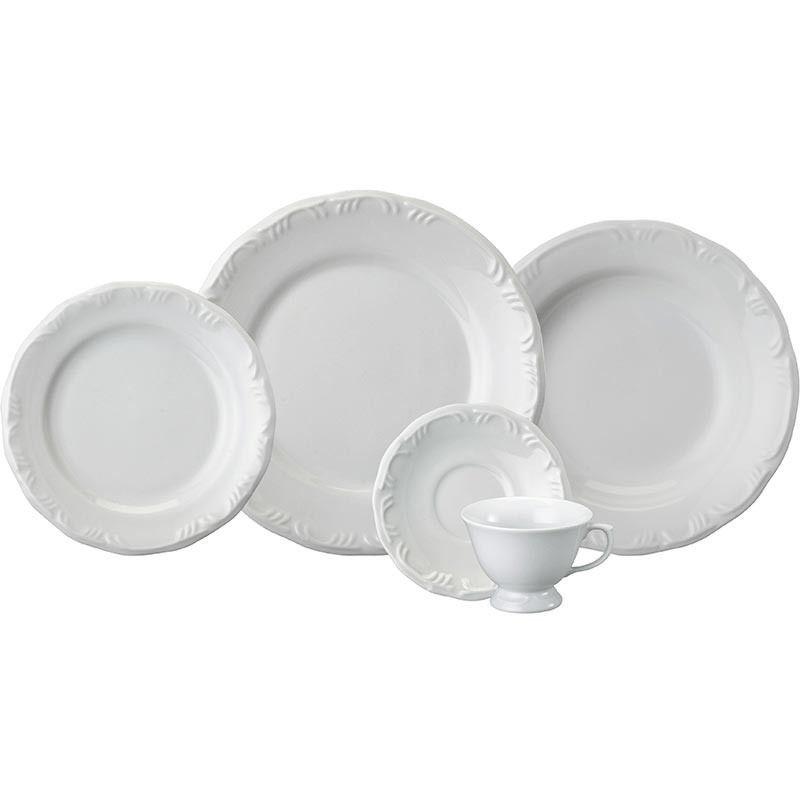 Aparelho De Jantar e Chá Pomerode Branco 20 Peças Schmidt