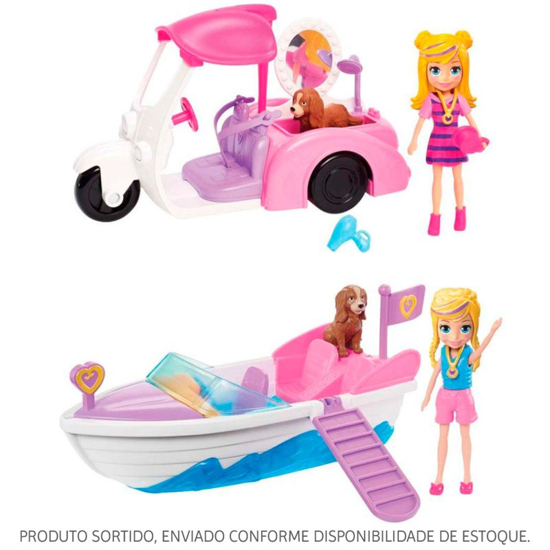 Aventura em Lancha Polly Pocket Sortido GDM08 Mattel